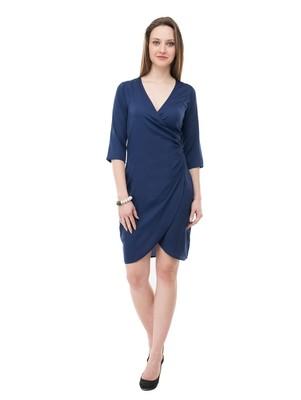 Women's Navy BodyCon Short Dress