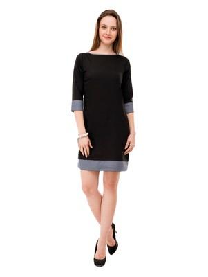Women's Black A-Line Short Dress