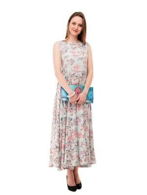 Women's Multi-Coloured Fit & Flare Maxi Dress