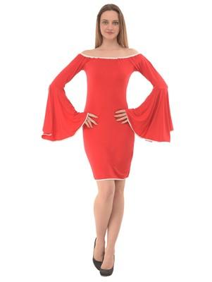 Women's Red Body Con Short Dress