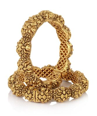 Traditional Gold Plated Bangle Set Of 2