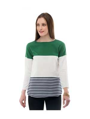 Women's Crepe Multi-Coloured Casual Top