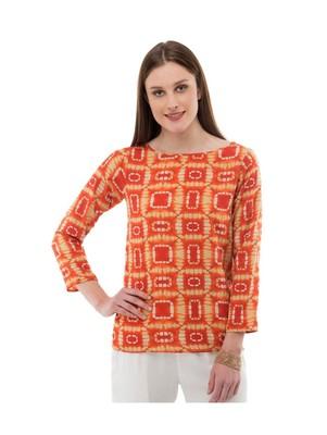 Women's Crepe Multi-Coloured Casual Top