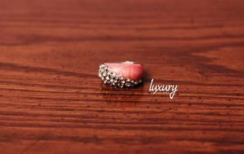 Soft Stylish Crystal Studded Light Pinky Ring
