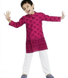 SANGANERI PRINT KURTA FOR BOYS
