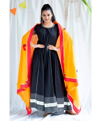 Magha cotton Long Dress And Dupatta