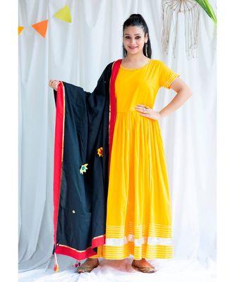 Pushya cotton Long Dress and Dupatta