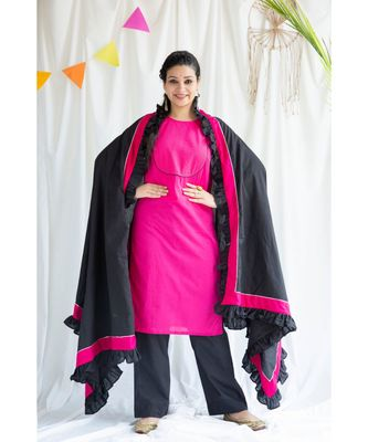 Vaani cotton Kurta,Pant and Dupatta Set of Three