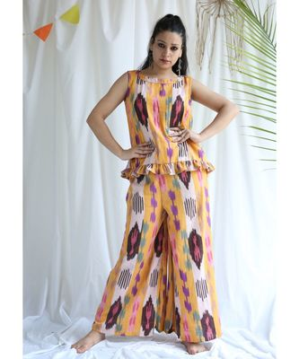 Sienna cotton Top And Palazzo Set