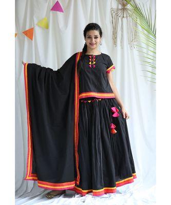 Kaali cotton Ghaghra Choli