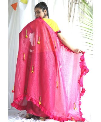 Amber Shimmer Sari