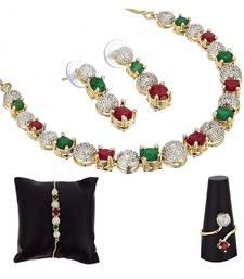Multicolor stone jewellery combo
