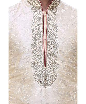 Gold Embroidered Silk Sherwani