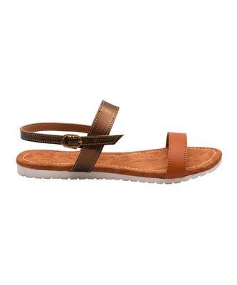Women Brown Flats Open Toe Flats