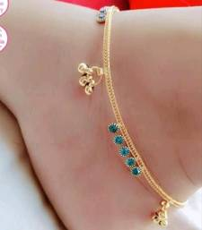 Turquoise diamond anklets