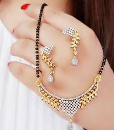 White diamond mangalsutra