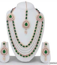Green pearl jewellery-combo