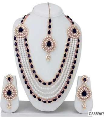 Black pearl jewellery-combo