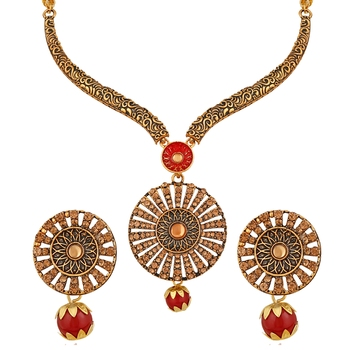 Red pearl necklace-sets