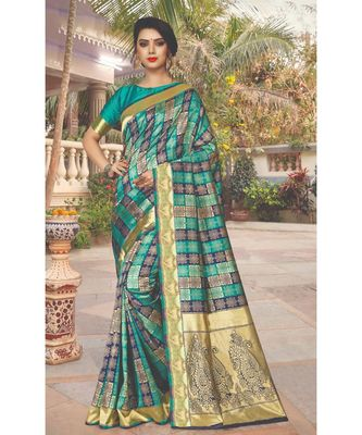 Rama SIlk Checks Jacquard Work Traditional Saree