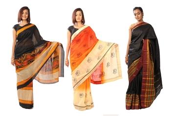Combo Of 3 Art Silk Saree With Blouse