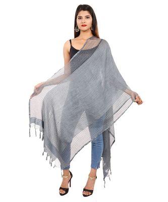 grey   Self Designz Silk Dupatta