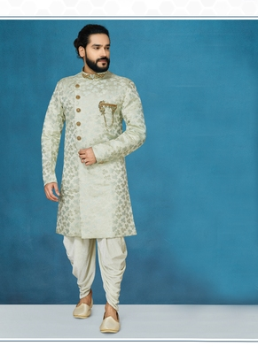 Grey embroidered