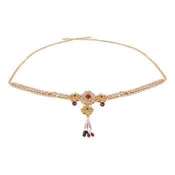 Gold crystal waist-belt