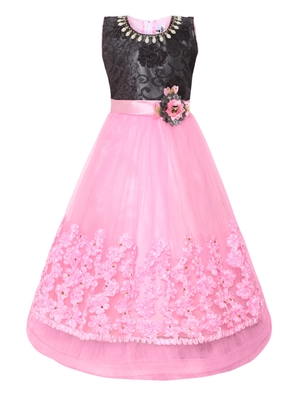 Pink Nylon Party Gown