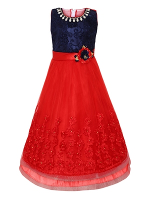 red nylon party gown