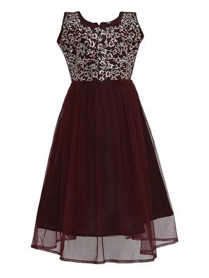 brown silk blend gown