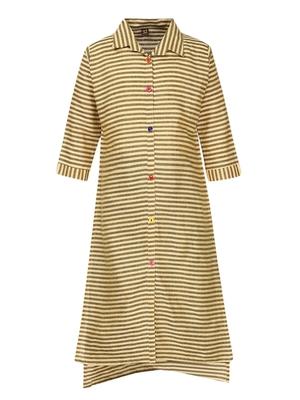 yellow cotton regular kurti