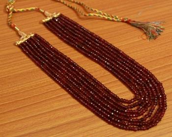 Maroon ruby necklaces