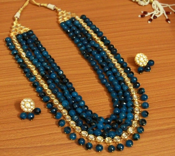 Blue onyx necklace-sets