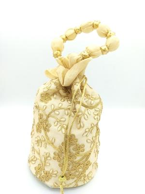 Core Classiques Gold Embroidered Potli Bag