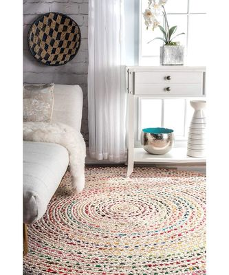 Indian handmade multicolor floor area rug and carpet