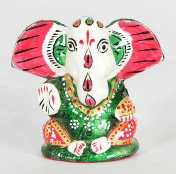 Handcraft Green Coloured Lord Ganesha For Home Decor