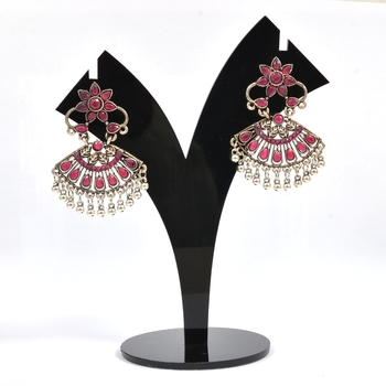 Traditional and Elegant Kundan Earrings for Women and Girls