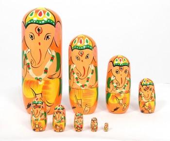 Handcraft Buddha Box Orange coloured Fine Work For Home Decor