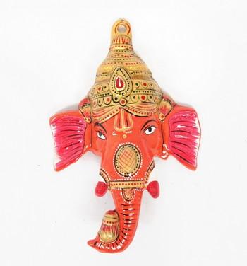 Handcraft Lord Ganesha Orange Coloured For Home Decor