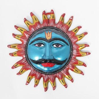 Handcraft Sun Face Showpiece Blue Coloured For Home Decor