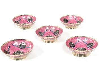 Handcraft Brass Boul Pink Coloured For Home Decor