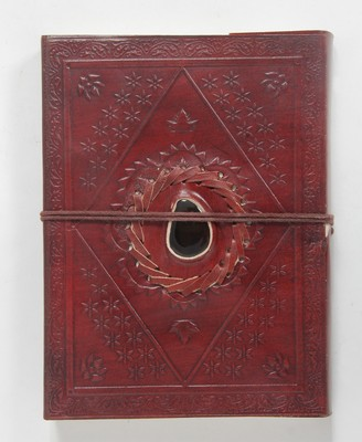 Handicrafted Paper Diary Maroon Coloured For Home Use