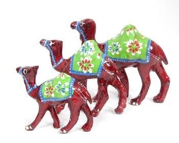 Handcraft Camel Statue Antique Fine Work Maroon Coloured For Home Decor