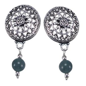 Grey Quartz   Earrings