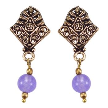 Purple quartz earrings