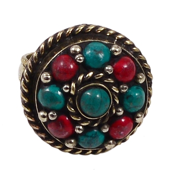 Multicolor turquoise rings