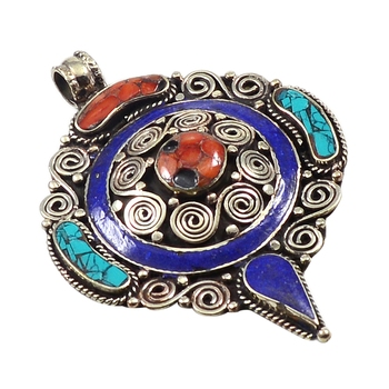 Multicolor turquoise pendants