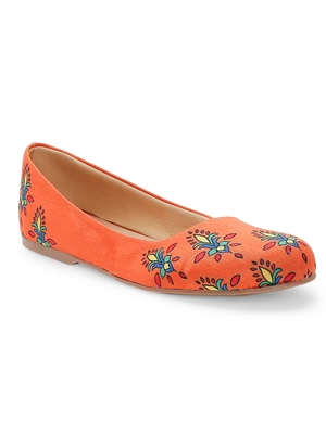 Women Ethnic Orange Noor Ballerina Shoes