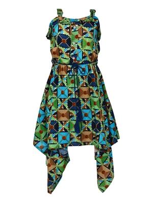 green silk blend dress